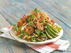 Santa Fe Shrimp Caesar Salad--available at Marie Callender's Restaurants for the 2013 winter season