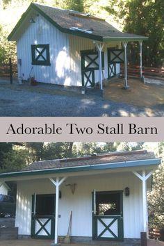 adorable two stall barn