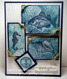 Nantucket Thank You by Julie Gearinger - Cards and Paper Crafts at Splitcoaststampers