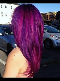 Fushia and purple hair