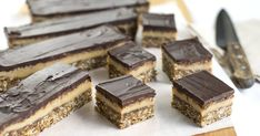 Two delicious old-fashioned favourites combine in this incredible slice: ANZAC biscuit on the bottom, with creamy condensed milk caramel and chocolate layers on top. Chocolate Slice, Chocolate Crunch, Nutella Fudge, Peppermint Cheesecake, Baked Carrots, Fudge Recipes, Milk Recipes, Sweets Recipes, Thermomix