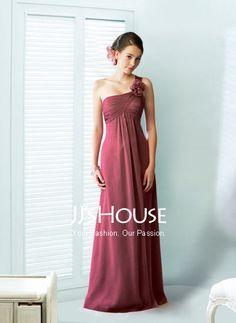 Bridesmaid Dresses - $117.99 - Nice Empire One-Shoulder Floor-Length Chiffon Bridesmaid Dress With None (007004100) jjshouse.com