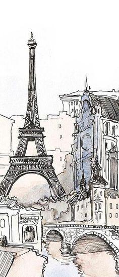 Фотообои Париж, Эйфелева башня купить на стену, фото в интерьере