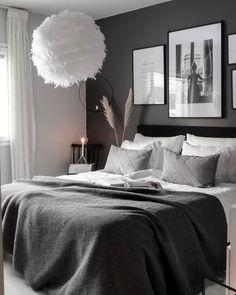 Black Bedroom Design, Room Design Bedroom, Room Ideas Bedroom, Bedroom Styles, Home Decor Bedroom, Home Living Room, Home Design Decor, Home Room Design, Home Decoracion