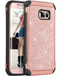 Galaxy S6 Edge Case, S6 Edge Case, BENTOBEN 2 in 1 Luxury Glitter Bling Hybrid S #BENTOBEN