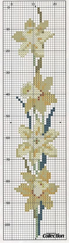 cross stitch bookmark - daffodil