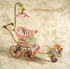Jill Dianne   Mechanical Antique Style Baby by JillDianneArt, $485.00
