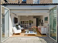 single storey extension ideas for house Porch And Terrace, Small Terrace, House Extension Design, House Design, Extension Ideas, Rear Extension, Council House Renovation, Tiny Living Rooms, Solis