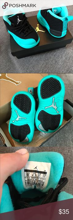 Jordan 12\'s All black 12\'s with white bottom.. released Sept 17