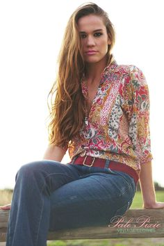 Multi Coloured Vintage Shirley Hooper Cotton Blouse by PalePixie, $50.00