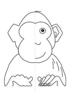 Resimm tamamlama Symmetry Worksheets, Symmetry Activities, Activities For Kids, Printable Mazes, Free Printables, Symmetry Art, Free Design, Monkey, Coloring Pages