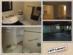 basement and bathroom renewing