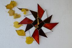 Starburst Wall Clock Wall Decor geometric design by ZangerGlass
