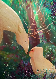 Forest Kiss by Crystal Kung > fabulous #digital #illustration