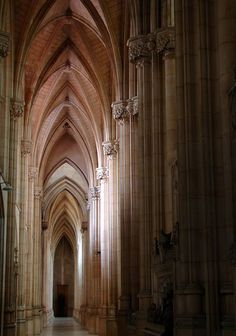 Beautiful Places...Empty aisle, Downside Abbey, Somerset, photo by archidave via Flickr.