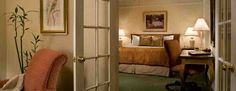 Junior Suite with a King bed and separate seating area with French Doors @ The Willows Hotel Chicgao