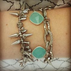 #stelladotstyle #armparty #silver Renegade, Serenity cuff, and Christina link bracelet.