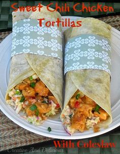 Sweet Chili Chicken Tortillas with Coleslaw #avocadooil