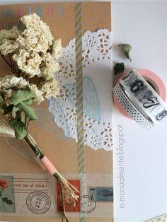 Idee e spunti per decorare un quaderno con i washi tape.