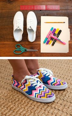 customisation-chaussure DIY shoes sneakers