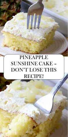 Latest News: Aa Entertainment Television Guide 2019 10 pineapple sunshine cake dont lose this Food Cakes, Cupcake Cakes, Cupcakes, Cake Mix Recipes, Baking Recipes, Köstliche Desserts, Delicious Desserts, Refreshing Desserts, Italian Desserts