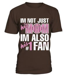 Im-Not-Just-His-Mom-Im-Also-His-1-Fan (Copy)  #volleyball #volleyballmom #mom #shirt #tshirt #tee #gift #perfectgift #birthday #Christmas #motherday