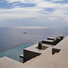 Jaw-dropping Aegean views at this beautiful pair of summer Houses on the island of #Syros in #Greece by #Block722Architects. http://www.yatzer.com/syros-block722-architects  #DreamHome