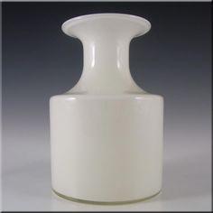 Holmegaard Opal White Glass Carnaby Vase by Per Lutken - £120.00