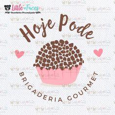 Logo Brigaderia Logomarca Logo Pronta no Elo7 | LittleFaces (82D5E0)