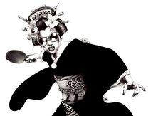 Ilustración a la japonesa por Shoei Otomo
