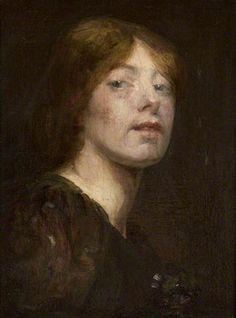 Self Portrait c.1893 by Bessie MacNicol (Scottish 1869-1904)