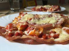 Bacon Pizza mit Schinken
