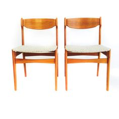 Pair of Danish Teak Dining Chairs – Atomic Furnishing & Design
