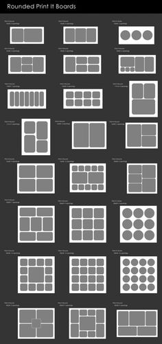 Rounded Print It Board™ Photoshop Actions » MCP Actions