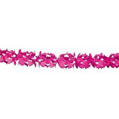 Slinger papier hoku - 6 meter - roze  Met deze opvouwbare en vrolijke slinger verander je elke kamer in een gezellige feestruimte.  EUR 2.45  Meer informatie