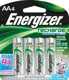 Energizer Rechargeable AA Batteries, NiMH, 2300 mAh, Pre-Charged, 4 count (Recharge Power Plus) Remote Control Cars, How To Know, Radios, Speakers, Computer Troubleshooting, Battery Logo, Phone Chargers, Walmart, Amazon Products