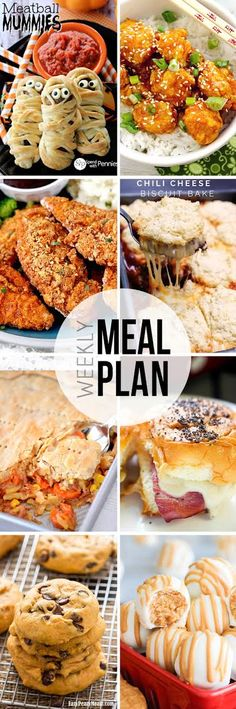 Easy Meal Plan Sunday - Here are six fantastic main dishes and two delicious. - Easy Meal Plan Sunday – Here are six fantastic main dishes and two delicious dessert recipes - Easy Meal Plans, Quick Easy Meals, Inexpensive Meals, Dessert For Dinner, Dinner Menu, Dinner Ideas, Dinner Themes, Paleo Dinner, Meal Ideas