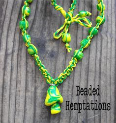 Handmade Polymer Clay Mushroom Hemp Choker by BeadedHemptations, $14.99