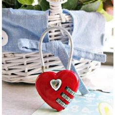 Red Safety 3 Digit Luggage Heart Shaped Padlock Lock Discount Home Decor, Packing Checklist, Red Hearts, Festivals, Heart Shapes, Safety, Gadgets, Products, Security Guard