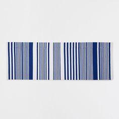 Vyobrazení 1 produktu Kobereček bavlna s proužky modré barvy