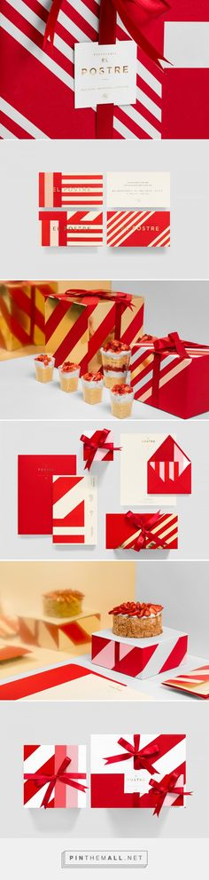 El Postre on Behance by Anagrama curated by Packaging Diva PD. A pastry boutique located in the municipality of San Pedro Garza Garcia in Mexico. A brand system that is fun, colorful, unique, and adaptable to the different packaging and applications.