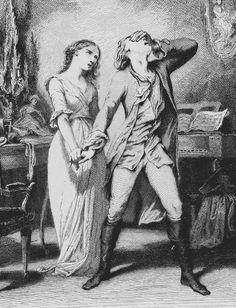 Tony Johannot (1803 - 1852) / Werther Goethe - verbriefte Wahrheiten - Eine Forschungsarbeit und Erläuterung / Erklärung zu den Leiden des jungen Werther von Anna J. Rahn
