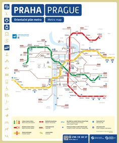 Information about Prague metro. Metro lines, intervals, transferring stations, metro map (plan). Prague Travel, Prague Map, Prague Tourist Map, Prague Shopping, Metro Map, Subway Map, S Bahn, Prague Czech Republic, Photos Voyages