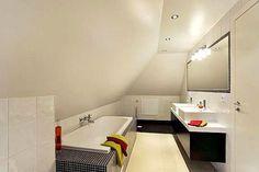 sloped ceiling bathroom