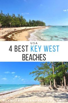 4 of the best public Key West Beaches (that are actually ON Key West) in the Florida Keys! Discover Fort Zachary Taylor State Park for interesting combination of beach and history! (Including a bonus Key West beachfront hotel with a private beach! Key West Hotels, Key West Beaches, Key West Vacations, Key West Florida Hotels, Key West Resorts, Florida Vacation, Florida Travel, Florida Beaches, Tennessee Vacation