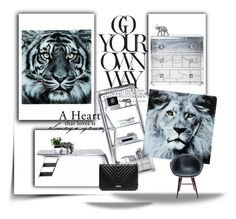 INTO THE WILD by karedesign on Polyvore featuring interior, interiors, interior design, home, home decor, interior decorating, GUESS by Marciano and modern