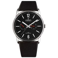 Elegant Polished Watch Steel Red by noon copenhagen