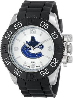 Game Time Men's NHL-BEA-VAN Beast Vancouver Canucks Round Analog Watch
