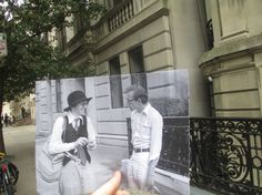"""Diane Keaton and Woody Allen are pictured here on a Manhattan street in a scene from the quintessential New York City 1977 film, """"Annie Hall. Annie Hall, Famous Movie Scenes, Famous Movies, Iconic Movies, Popular Movies, Fair Pictures, Pretty Pictures, Moving Pictures, Woody Allen"""