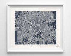 Cordoba Argentina Print Map Poster State City by InkistPrints